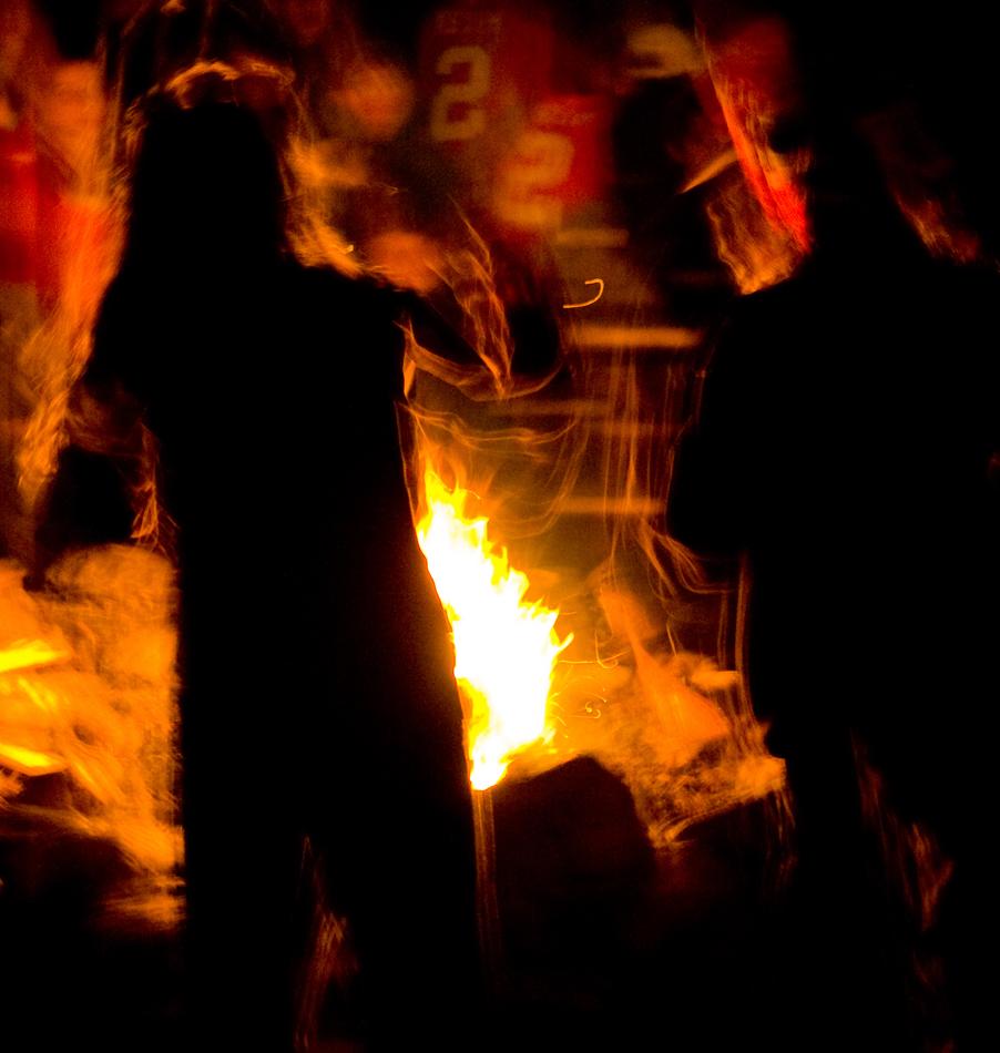Campfires at Bark Lake Leadership Centre