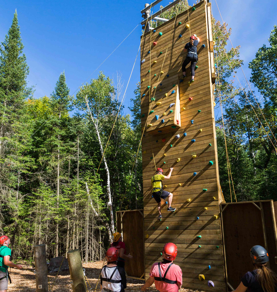 The Climbing Tower Experience at Bark Lake Leadership Centre