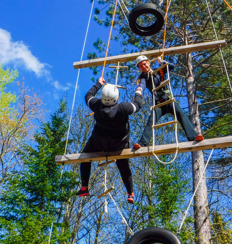 High Ropes Challenge Course at Bark Lake Leadership Centre