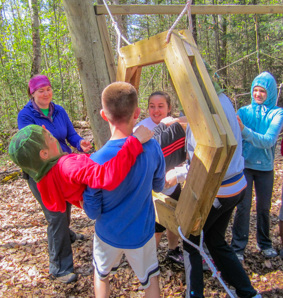 Low Ropes Challenge Course at Bark Lake Leadership Centre