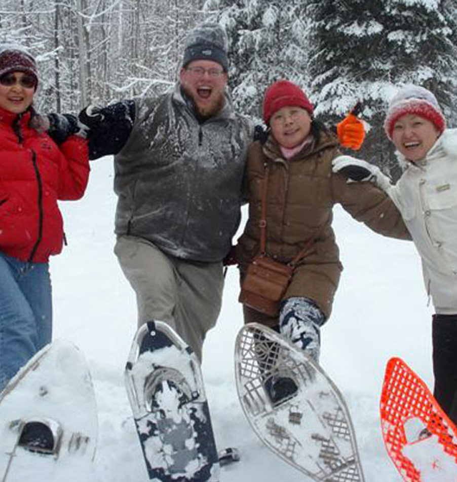 Snowshoeing at Bark Lake Leadership and Conference Centre