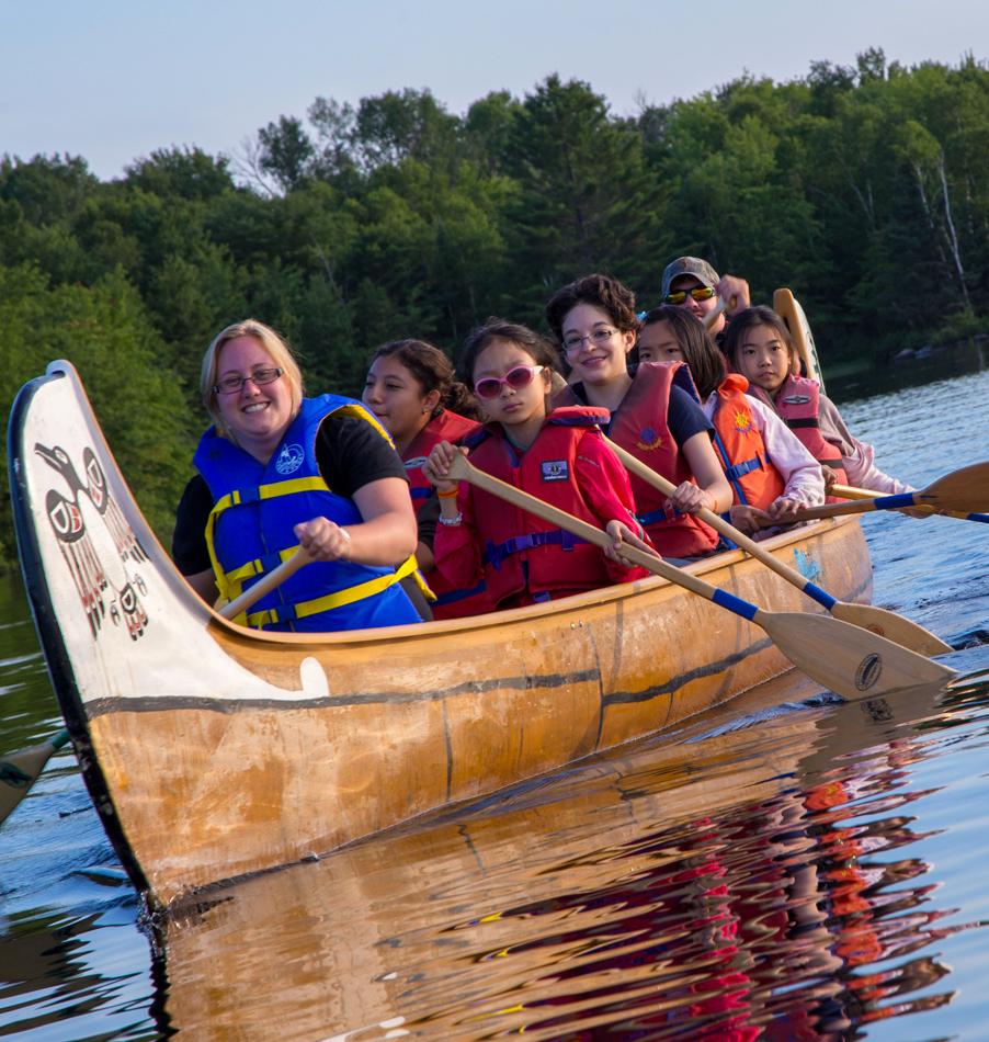 Voyageur Canoe at Bark Lake Leadership Centre