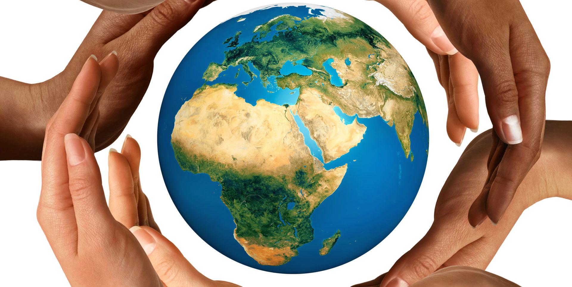 International Guests at Bark Lake Leadership Centre Hands around the world